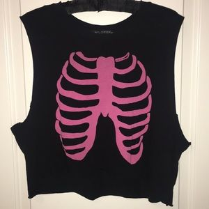 Wildfox rib cage tank top